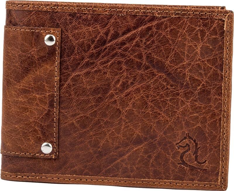 Kara Men Tan, Brown Genuine Leather Wallet(6 Card Slots)