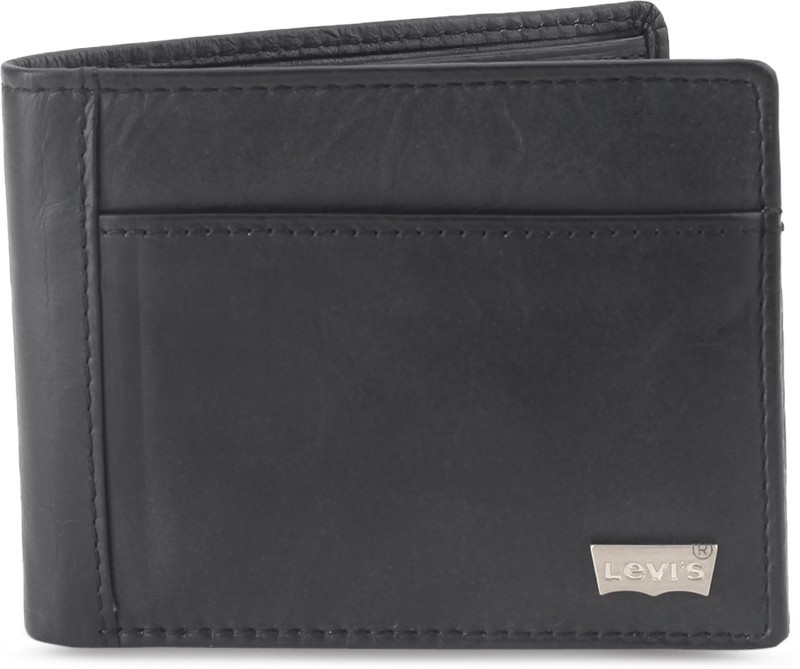 Levi's Men Black Genuine Leather Wallet(8 Card Slots)