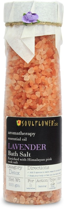 Soulflower Lavender Himalayan Pink Rock Bath Salt(500 g)