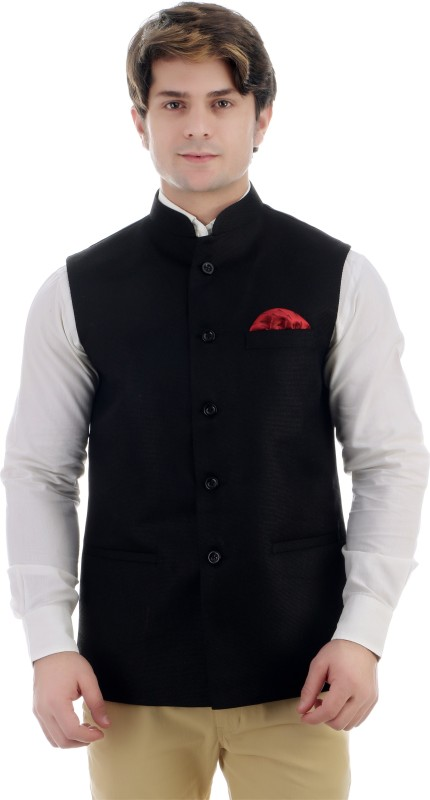 ShopyBucket Sleeveless Solid Mens Jacket