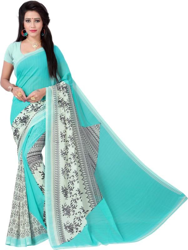 Vimalnath Synthetics Floral Print Fashion Georgette Saree(Green)