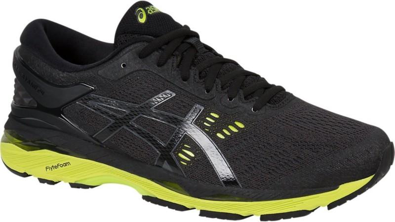 Asics GEL - KAYANO 24 Running Shoes For Men(Black, Green)