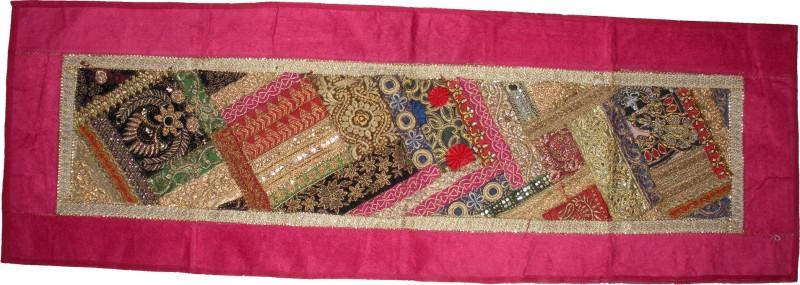 exclusive Pink 141 cm Table Runner(Silk)