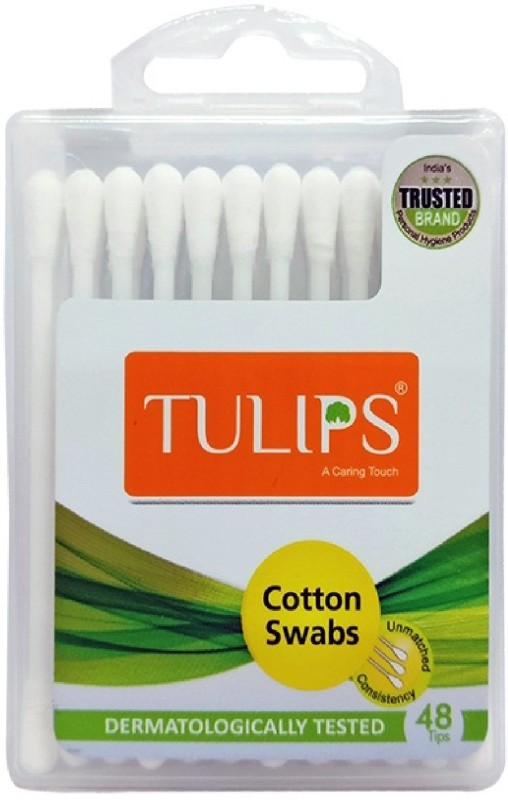 Tulips Travel Case Cotton Buds 48 Tips-24 Stems in Each Pack (Pack of 12)(24 Units)