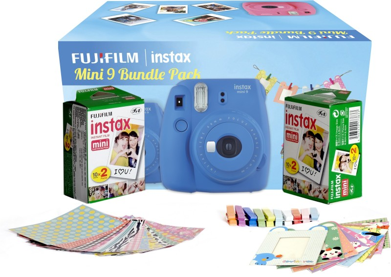 Fujifilm Instax Camera Mini 9 Bundle Pack Instant Camera(Blue) image