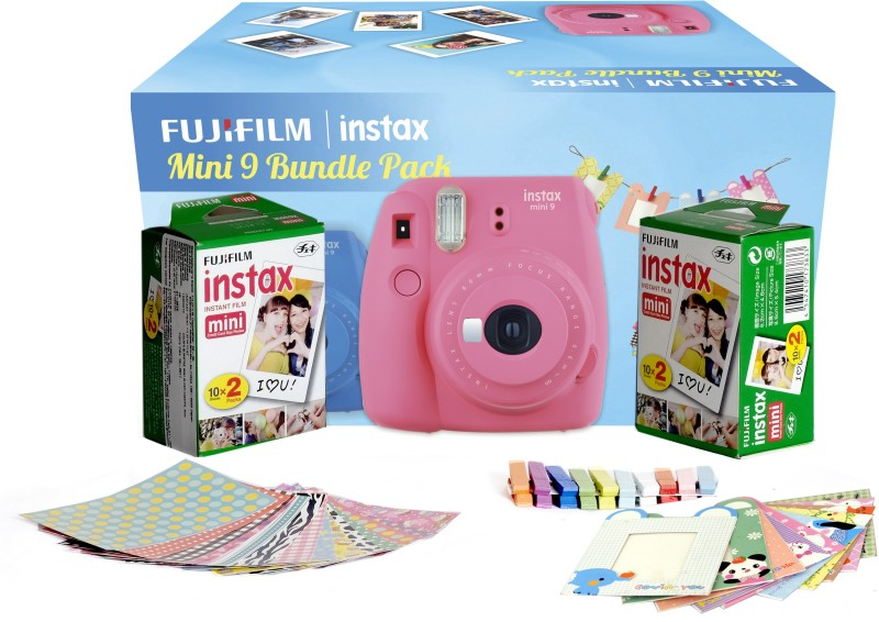 Fujifilm Instax Camera Mini 9 Bundle Pack Instant Camera(Pink) Mini 9 Bundle Pack