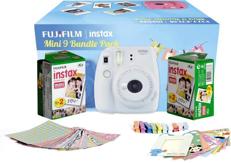 Fujifilm Instax Camera Mini 9 Bundle Pack Instant Camera(White) Mini 9 Bundle Pack