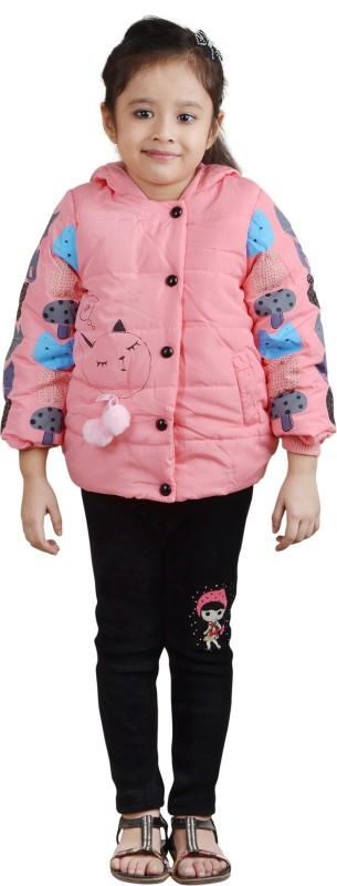 Crazeis Full Sleeve Printed Girls Jacket