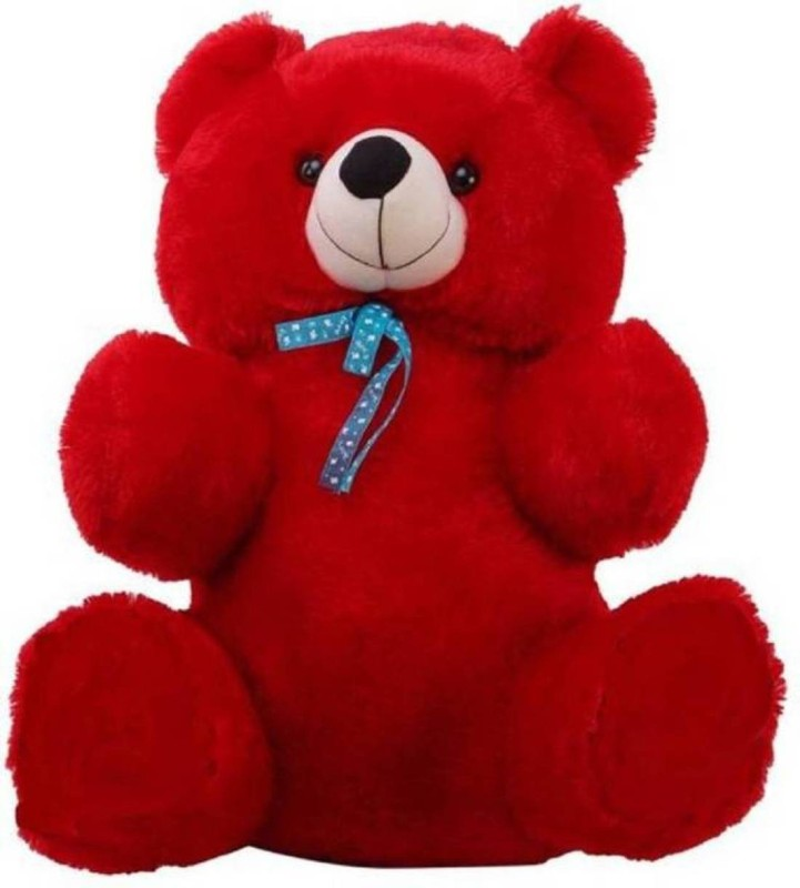 AVS Stuffed Spongy Hugable Cute Teddy Bear Cuddles Soft Toy For Kids Birthday / Return Gifts Girls Lovable Special Gift High Quality Red Color - 60 cm(Red)