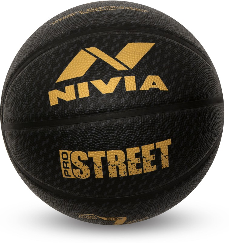 Nivia Pro Street Basketball - Size: 7(Pack of 1, Black)