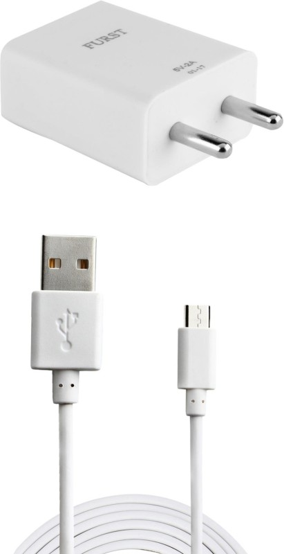 Furst 2A. Fast Charger with Cable (1 Mtr) For Xiaomi Redmi Note 2 Prime Mobile Charger(White)