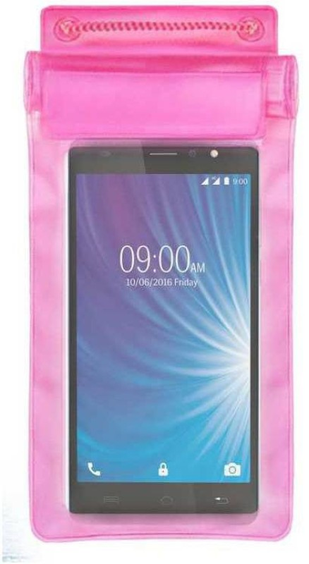 ACM Pouch for Lava X50 4g(Pink, Waterproof, Silicon)