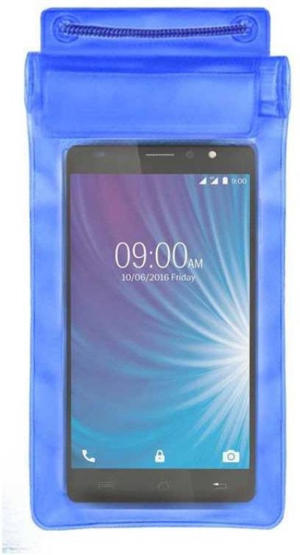 ACM Pouch for Lava X50 4g(Blue, Waterproof, Silicon)