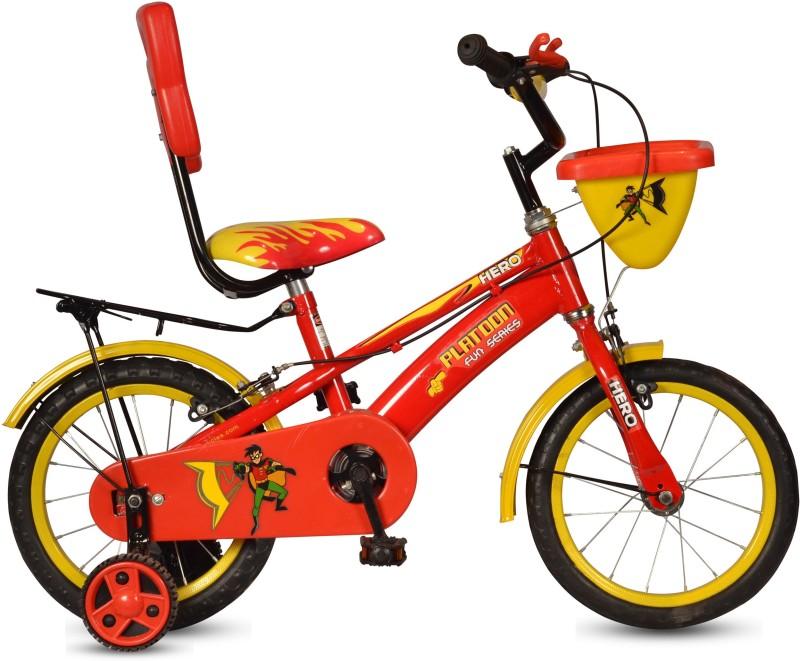 Hero Platoon 14 T Single Speed Recreation Cycle(Red, Yellow)
