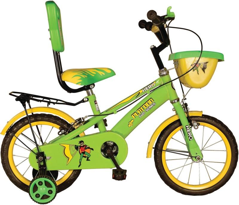 Hero Platoon 14 T Single Speed Recreation Cycle(Green, Yellow)