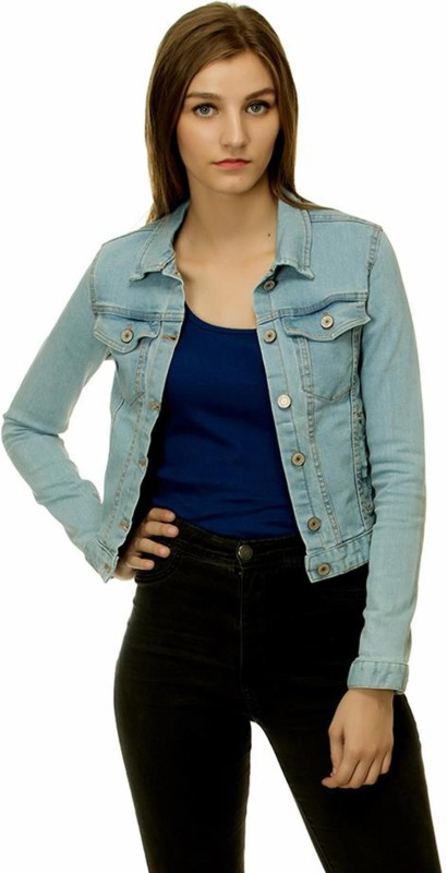Kotty Full Sleeve Solid Women's Denim Jacket