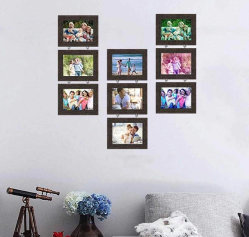 Photo Frame Wood Photo Frame(Black, 9 Photos)