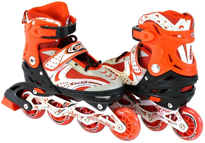Xerobic Inlin In-line Skates - Size 7-9 UK(Multicolor)