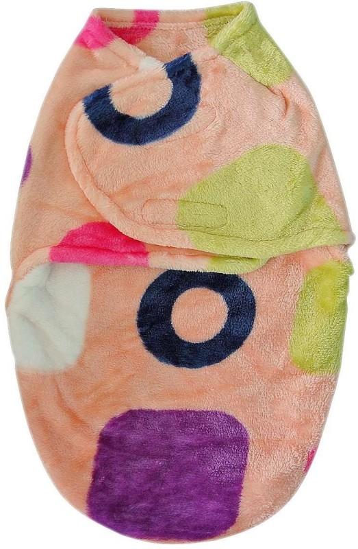 Carters Printed Single Swadding Baby Blanket Peach(Fleece Blanket, 1)