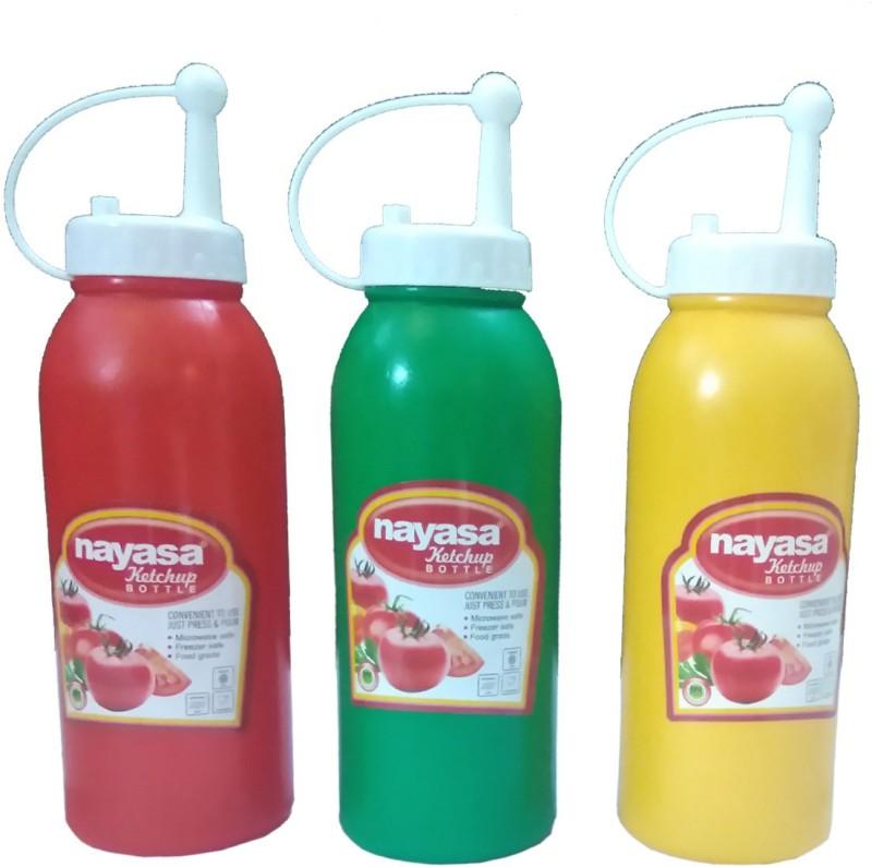 Nayasa ketchup bottle pack of 3 570 ml Bottle(Pack of 3, Multicolor)