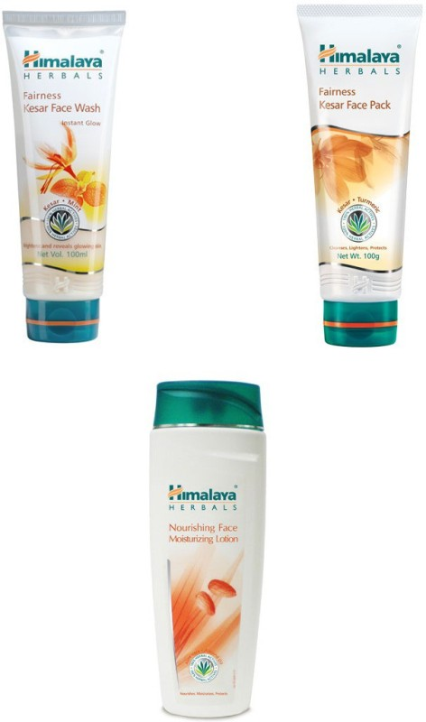Himalaya fairness kesar face wash, fairness kesar face pack, moisturizing face lotion(3 Items in the set)