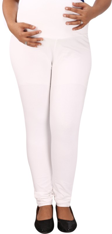 Mammas Maternity Ankle Length Legging(White, Solid)