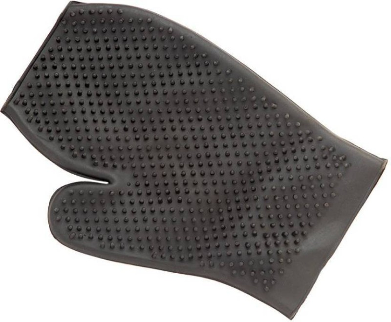 Foodie Puppies Grooming Gloves for Dog, Cat(Black, Fits All)
