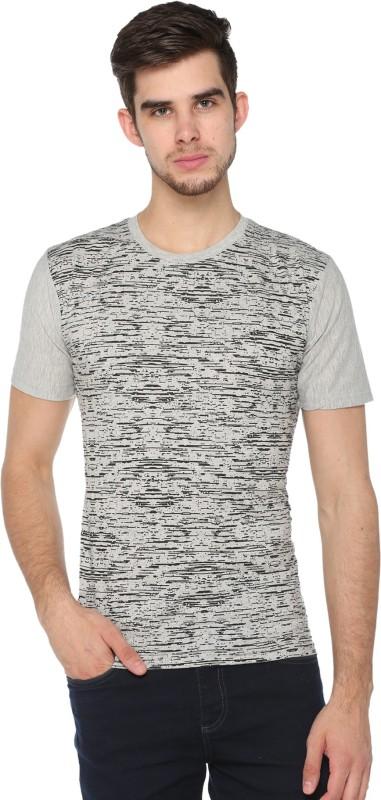 Shaun Printed Men Round Neck Grey T-Shirt