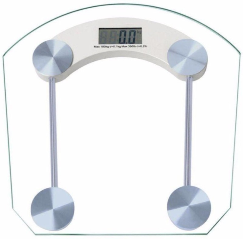 Sapro Personal Scale Digital Thick Glass Weighing Scale Weighing Scale(White)