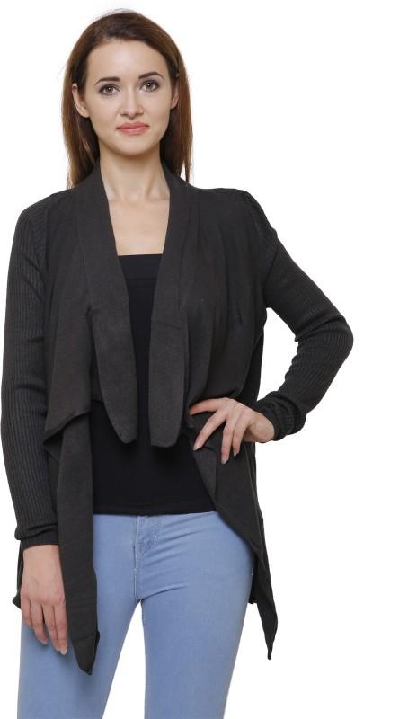 MansiCollections Women No Closure Solid Cardigan