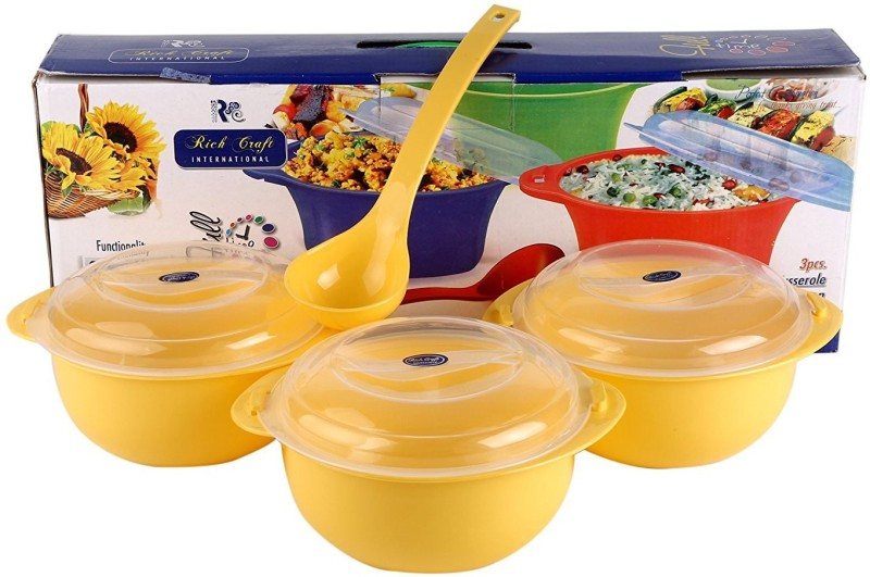 Rich Craft International Full Time Square 3+1 ( Color May Vary ) Casserole Set(1500 ml)