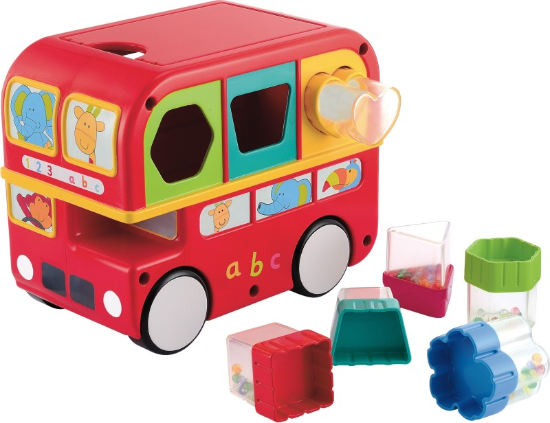Giggles Shape Sorting Bus(Multicolor)