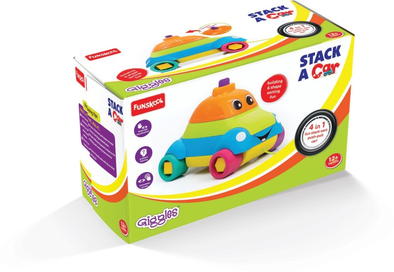 Funskool-Giggles Stack A Car(Multicolor)