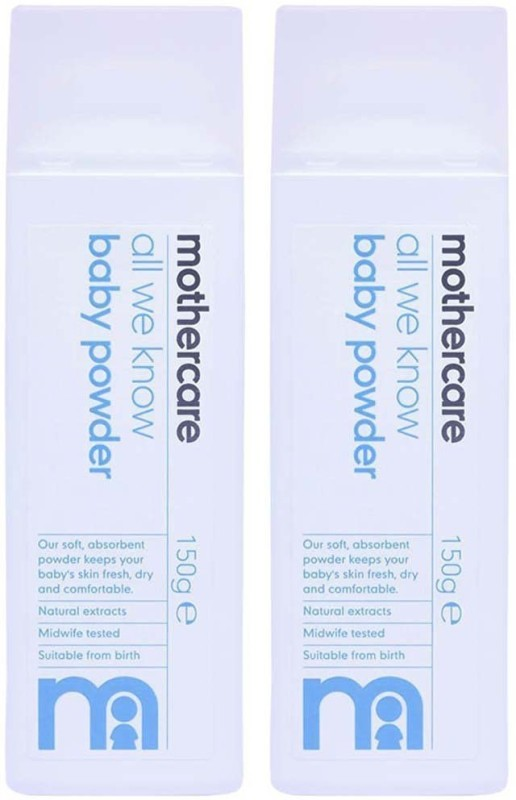 Mothercare Mothercare All We Know Baby Powder 150g, Pack of 2 (300gm total)(150 g)