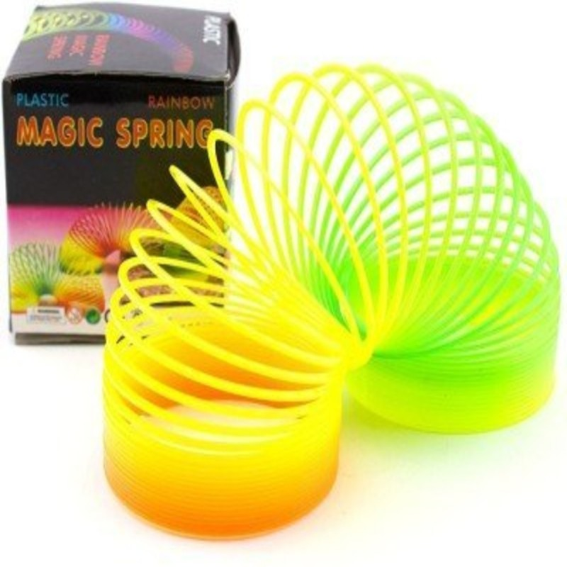 Zurie Toy Collection Bouncy Stretchy Slinky Magic Spring Toy Gift for Your Kid (Pack of 2) Toy Magic Spring(Multi Color)
