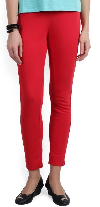 Biba Skinny Fit Women's Red Trousers