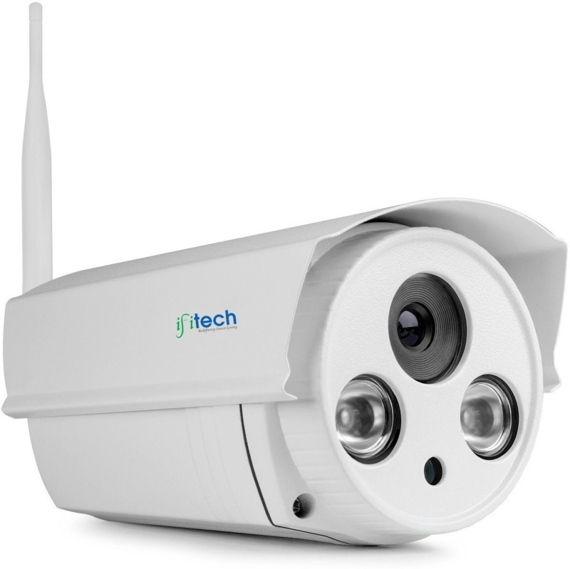 IFITech IFIBT1 OUTDOOR HD 720P (1MP) WIRELESS IP CAMERA WITH NIGHT VISION, Motion Detection, Lifetime Support! Home Security Camera-  Webcam(White) image