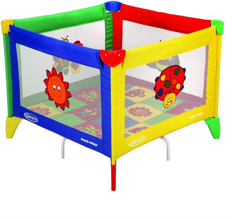 Graco Pnp Square Bugs Quilt_9261Qb Bassinet(Multicolor)