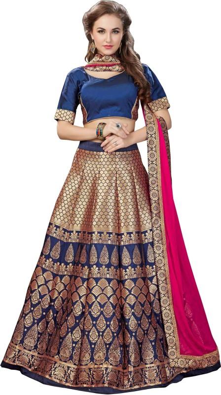 fabkaz Floral Print Womens Lehenga Choli(Stitched)