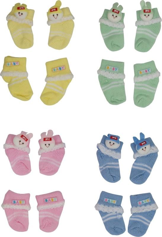 Aarushi Baby Boys & Baby Girls Printed Ankle Length Socks(Pack of 8)