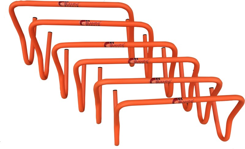 Sahni Sports Speed Hurdles 9 Inches Set of 6 Plastic Speed Hurdles(For Adults, Children Pack of Pack of 6)
