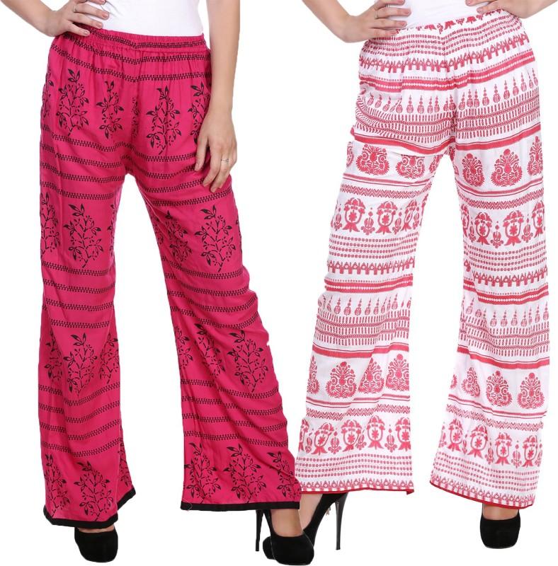 Myshka Flared Womens Multicolor Trousers