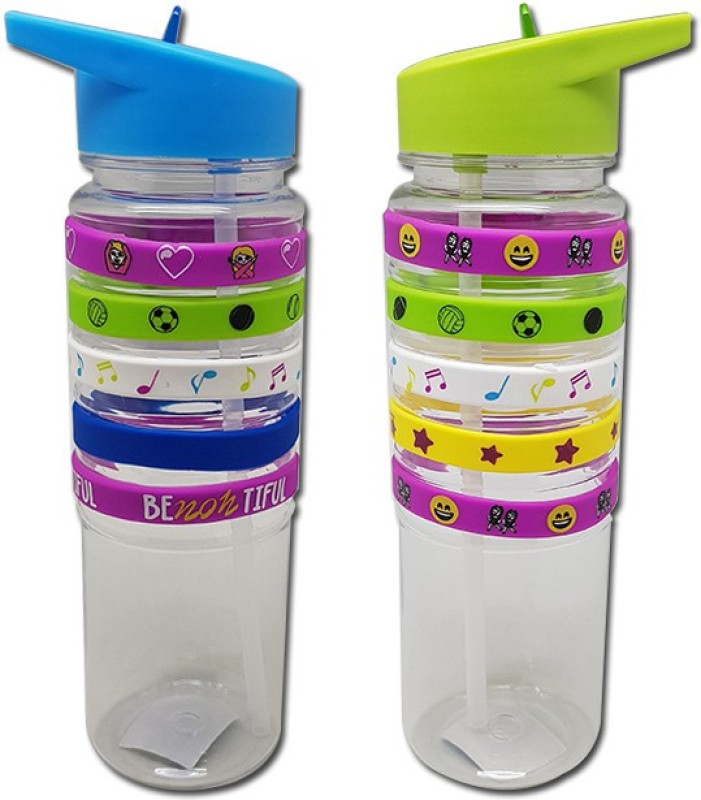 Tuelip Combo Sports Water Bottle For Outdoor Cycling Hiking With Sipper Green...