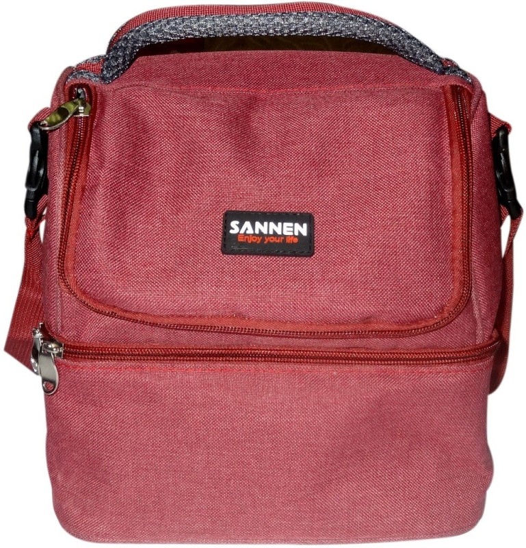 Sannen Polyester Cooler Bag(Red Collapsible)