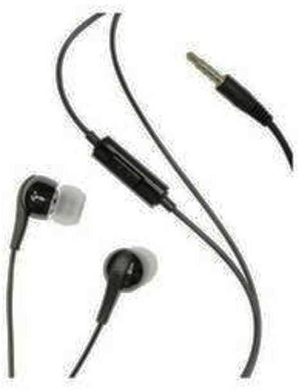 nervy Wired Stereo EHS60 Serious Sound Earbud 3.5mm universal headset with In-Line Multi-Function Answer/Call Button (Black) Wired Headset with Mic(Black, On the Ear)