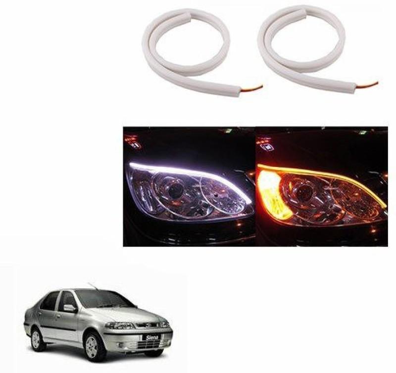 A2D 22261 60cm Audi Style Flexible Daytime DRL+Indicator Set Of 2 Car Fancy Lights(White)