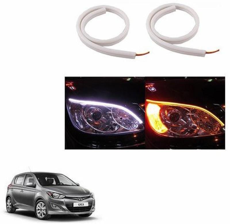 A2D 22324 60cm Audi Style Flexible Daytime DRL+Indicator Set Of 2 Car Fancy Lights(White)