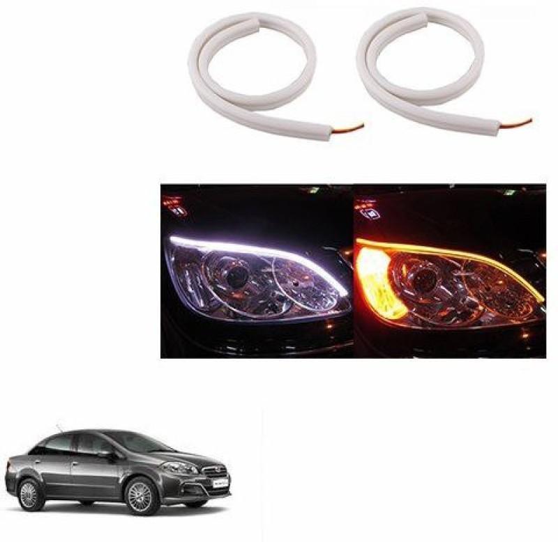A2D 22256 60cm Audi Style Flexible Daytime DRL+Indicator Set Of 2 Car Fancy Lights(White)