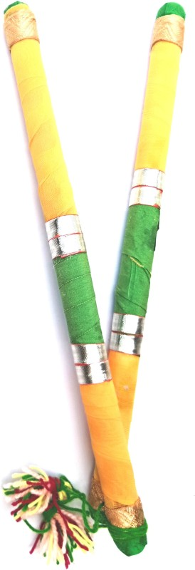 aparnas dandiya sticks for this navaratri,garba Dandia Sticks(Yellow, Green, Gold)