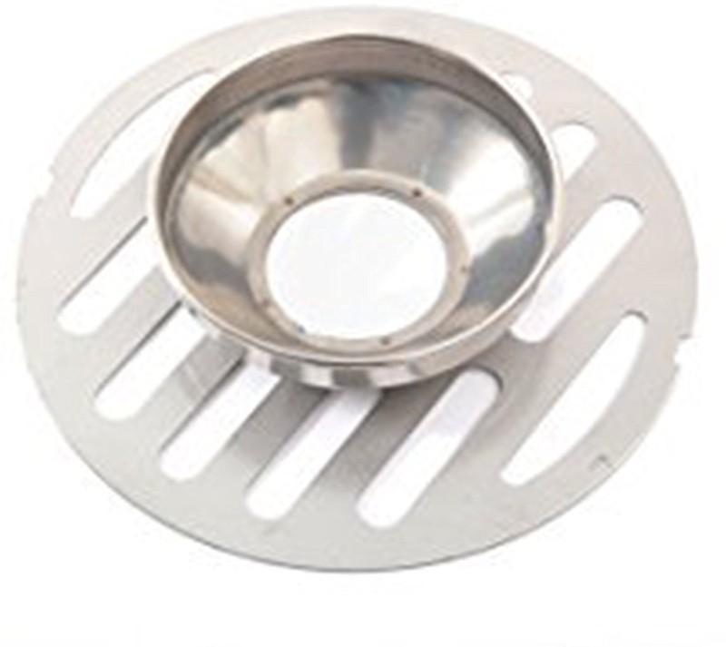 Klaxon Floor Stainless Steel Push Down Strainer(15 cm Set of 1)